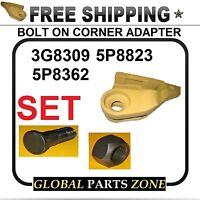 Bolt On Corner Adapter For Caterpillar Left 3g8309 Bolt& Nut J300 Ships Free