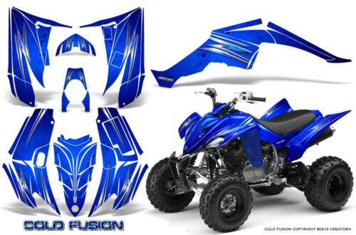 YAMAHA RAPTOR 350 GRAPHICS KIT CREATORX DECALS STICKERS COLD FUSION BLUE