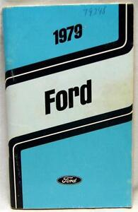 ford motor company  automobile owners manual brochure