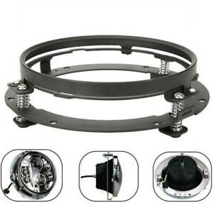 For-Jeep-Wrangler-Mounting-Ring-Bracket-7-Inch-LED-Headlight-Adapter-Round-Black