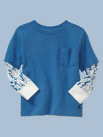 Gap Printed 2 In 1 Top Size 12-18-24m 2t 3t 4t 5t