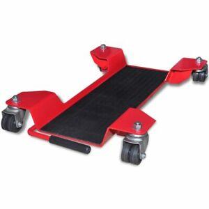 vidaXL-Motorfietsstandaard-Rood-Motorstandaard-Verplaatsbaar-Motor-Verrijdbaar
