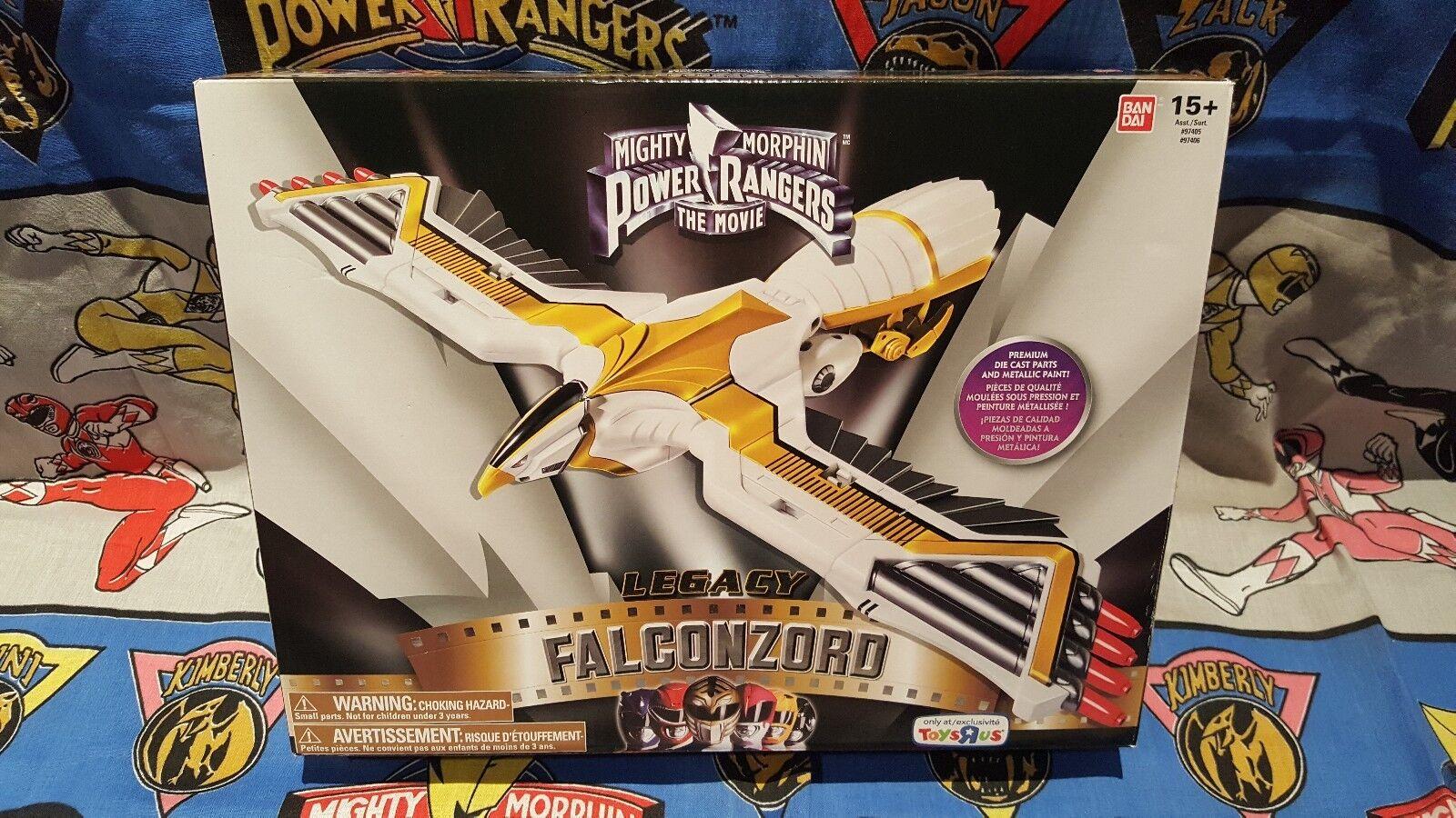 Mäktiga Morfin Power Rangers Legacy FALCONZORID Megazord -fabriken förseglade helt nytt.