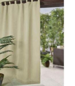 Elrene Matine Velcro Tab Top Panel 70262 Indoor Outdoor 52inx84in