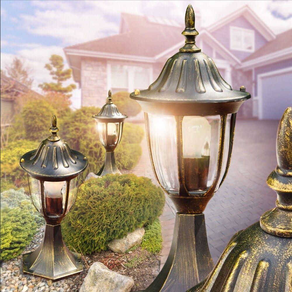 Luce Segnapasso Giardino Esterno Lanterna marrón oro Antico Classico Alluminio