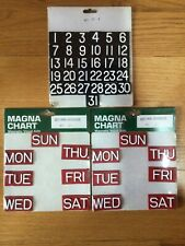 Magna Chart Magnetic Visual Aids Magnets Days And Numbers Vintage New Lot