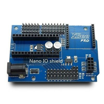 NANO IO Shield Prototype I/O Expansion Board with XBee 24L01 Interface Arduino