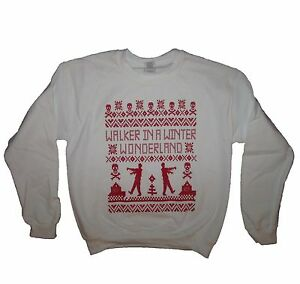 Zombie Christmas Sweater.Details About Sweatshirt Zombie Ugly Sweater Walker T Funny Dead Apocalypse Shirt Christmas