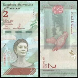 VENEZUELA 2 Bolivares Soberano, 2018, P-NEW, UNC World Currency