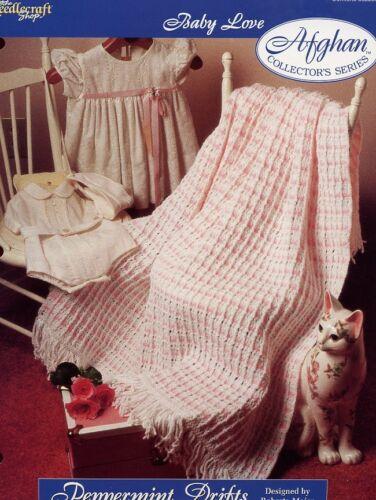 Peppermint Drifts Afghan TNS Baby Love Crochet Pattern