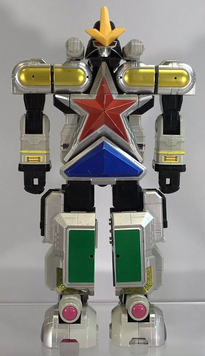 Power Rangers súper Zeo Megazord Deluxe Dx Figura casi completo transformar