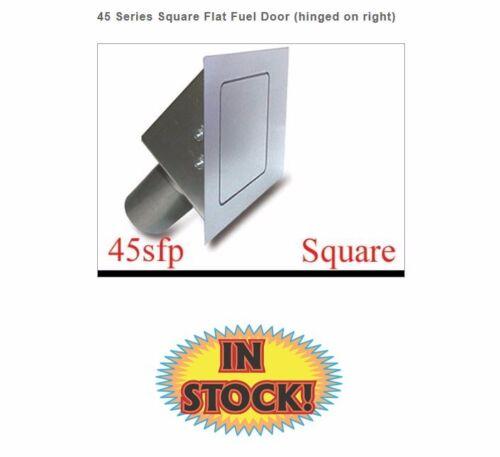 Square 45 Degree Fuel Filler Door Hagan 45SFP Flat Face Pass Side