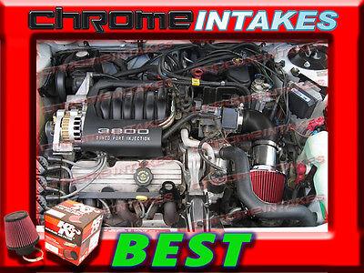 K/&N+RED 90 91 92 93 BUICK CENTURY//1990-1991 BUICK SKYLARK 3.3L V6 AIR INTAKE TB