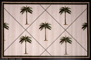 3x5 Area Rug Tropical Palm Tree Fronds Carpet Actual Size
