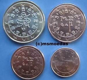 Portugal 4 Euromünzen Jahr 2007 Euro Münzen 1 Cent2 Cent5 Cent1