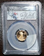 2010 1/10th-$5 American Gold Eagle-PCGS PR 69-Signed byDiehl 35th Mint Director
