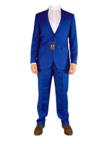 Reed Pantaloni 2 da pantaloni in nuovi Austin Mens e due blu ufficio Sharkskin pezzi di rqwHvr1FE