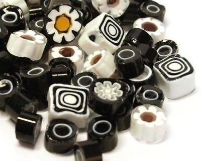 Millefiori Mosaic Tiles - Lava Black