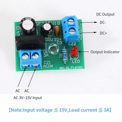 AC 3-15V Single Power Supply Rectifier Filter Module Mini Bridge Circuit Board