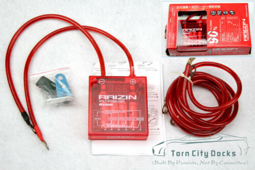 JDM Red Universal Fuel Saver Voltage Stabilizer Regulator Grounding Wire Kit 90/%