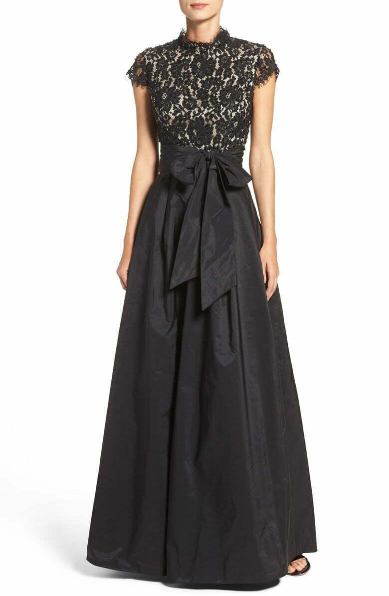 Vestido  De Fiesta ELIZA J romántica Corpiño Negro con Cuentas Vestido Negro Talla 14  gran selección y entrega rápida