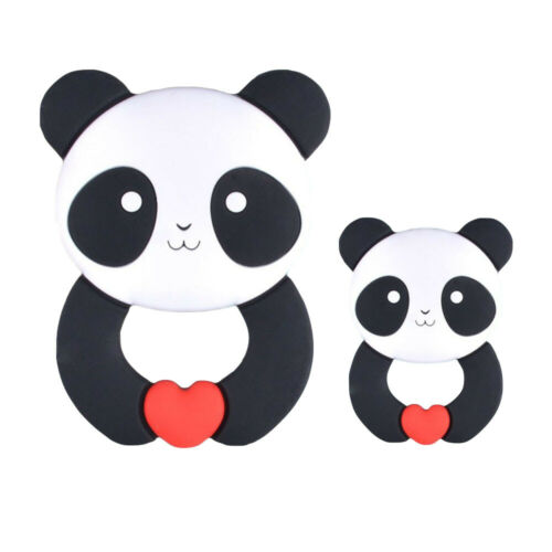 Kawaii Silicone Baby Teethers Food Grade Baby Educational Toy Necklace Pendant