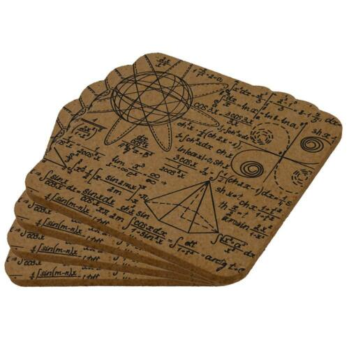 Math Geek Formulas Square Cork Coaster Set of 4