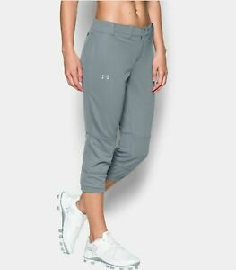 Womens-Under-Armour-UA-Fitted-Strike-Zone-Softball-Pants-SM-Small-Gray-1281968