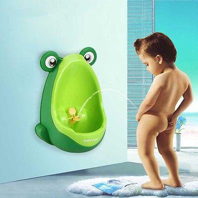 Cute Frog Boy Kid Baby Child  Potty Urinal Pee Toilet Stand Training Urine