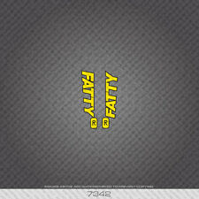 07342 Cannondale Bicycle Fatty Stickers - Decals - Transfers - Yellow