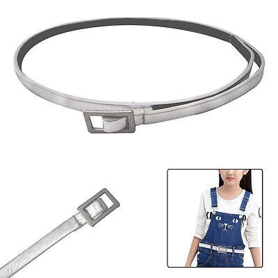 10mm Largo Sottile Argento Lucido Bambini Pu Pelle Cintura Elegante Bello E Affascinante