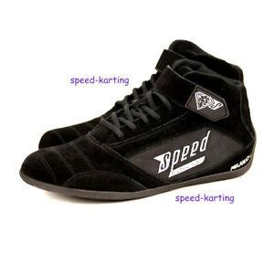 Kartschuhe-Schwarz-034-Milan-034-Speed-Racewear-Bewaerte-Qualitaet-in-neuem-Design