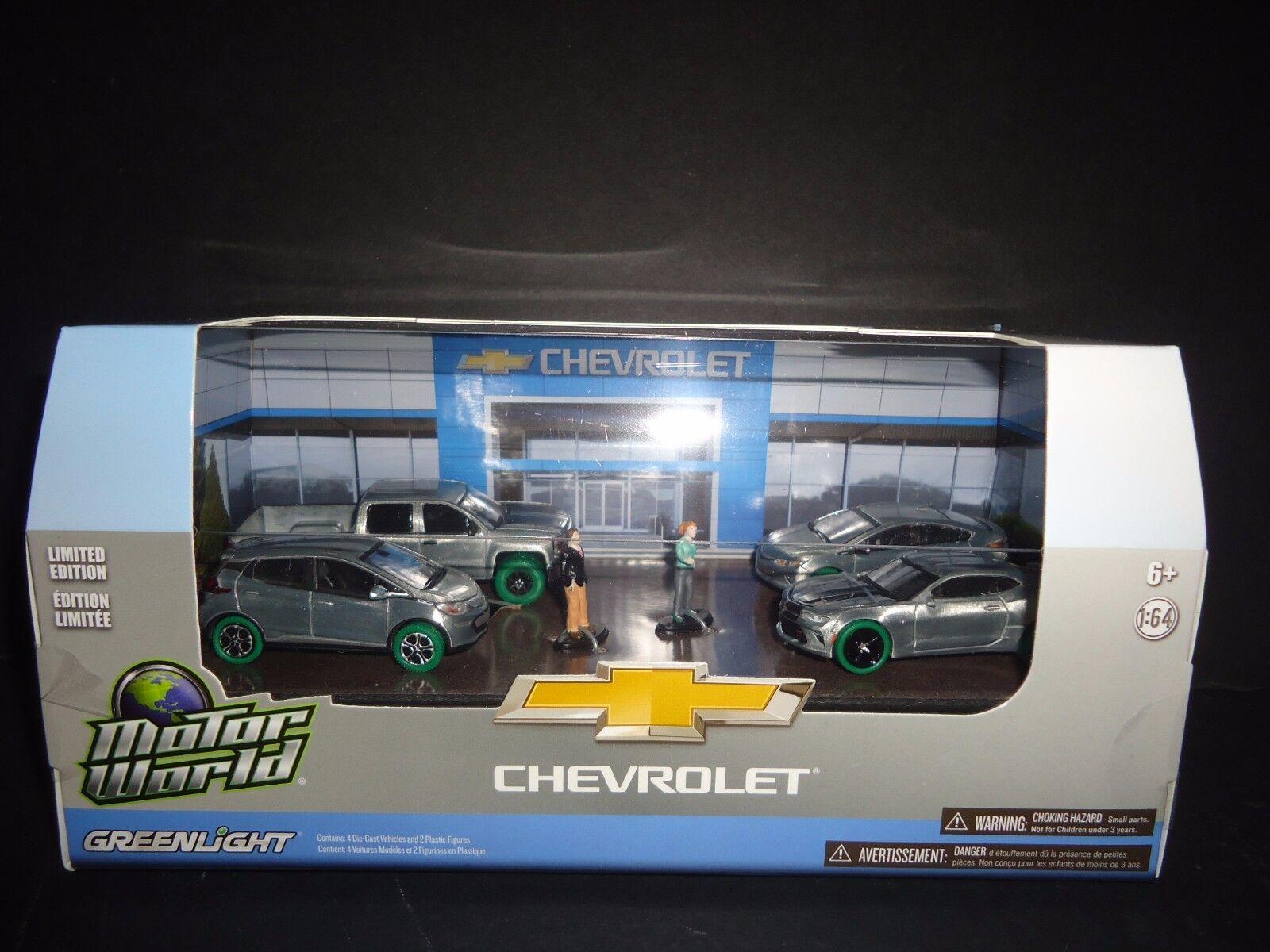 Greenlight Modern Chevrolet Dealership 6 pcs set 1 64 58034 CHASE