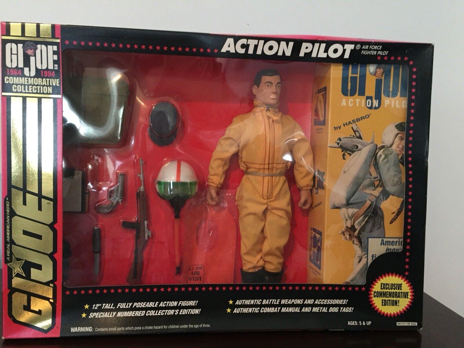 VINTAGE GI Joe Action PILOT (brown hair) ,1993