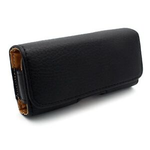 iPhone-5-5S-5C-BLACK-SIDE-LEATHER-PHONE-CASE-COVER-HOLSTER-with-BELT-CLIP-LOOPS