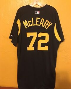 the latest fcd2c 4108c Details about PITTSBURGH PIRATES SPRING TRAINING GAME WORN JERSEY McLEARY  SIZE 50