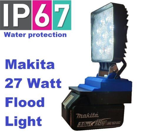 Makita LXT BL18 27 Watt LED flood light with 180 degree adjustment