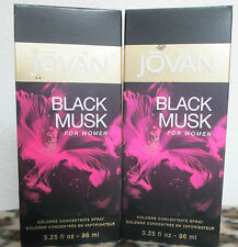 JOVAN BLACK MUSK  3.25 OZ / 96 ML COLOGNE CONCENTRATE SPRAY FOR WOMEN