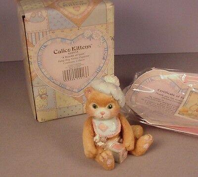"""NEW NIB NOS 1992 ENESCO CALICO KITTENS /""""A BUNDLE OF LOVE/"""" 628433 W//BOX /&TAGS"""