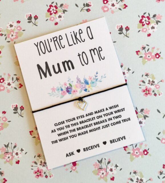 Youre Like A Mum To Me Wish String Bracelet Mothers Day Buy 5 Get