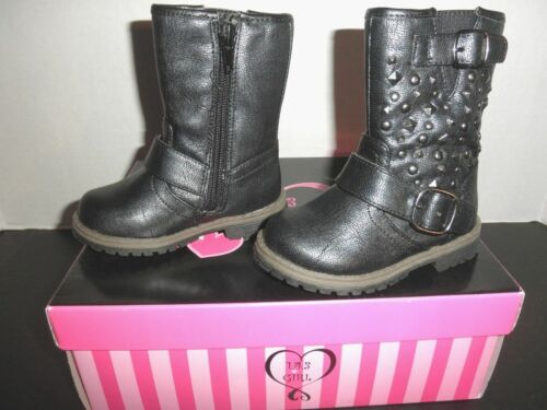 "NIB /""143 GIRL  /""LIL LOGAN/"" Toddler Little Girls FASHION BOOTS Shoes Black 5,6,8"