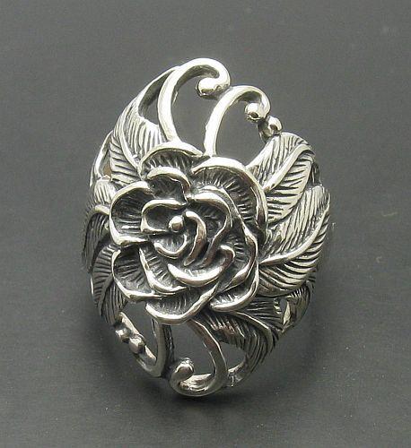 Sterling silver ring solid 925 Flower R000622 Empress