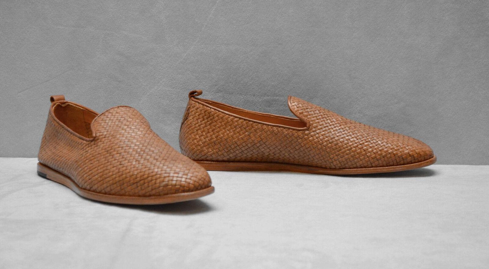 Nuevo B5 H H H Londres Tejido Cuero Tostado Sin Cordones Plana Informal Mocasín Zapatos Talla 0bb715