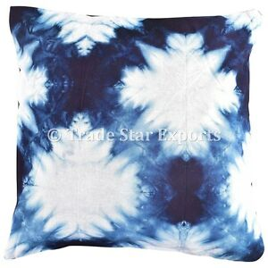 Indian-Handmade-Shibori-Pillow-Cases-Tie-Dye-Cushion-Cover-Indigo-Throw-Pillows