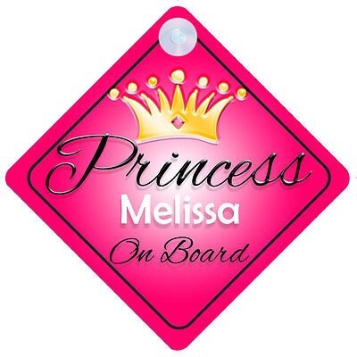 Princess Mira On Board Personalised Girl Car Sign Child Gift 001