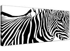 Black White Cheap Canvas Art of Zebra  - 120cm x 50cm - 1022