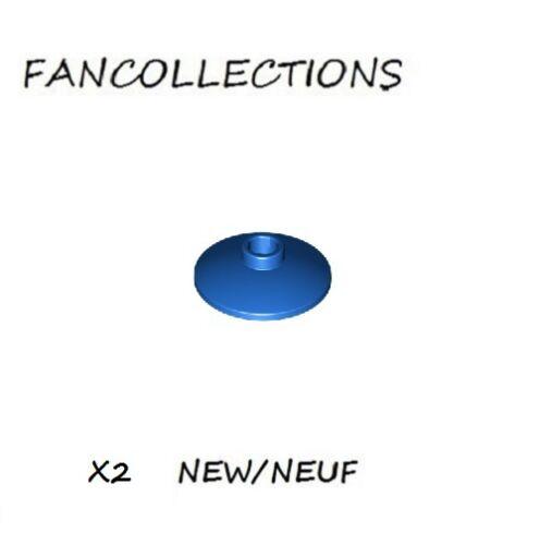 - 4740  NEUF LEGO x 2 Radar Blue Dish 2x2 Inverted