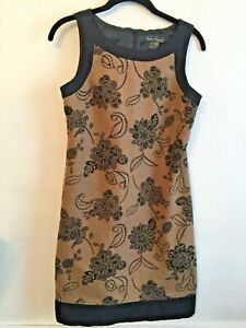6-Jessica-Howard-Lined-Sleeveless-Sheath-Dress-Brown-Black-Beaded