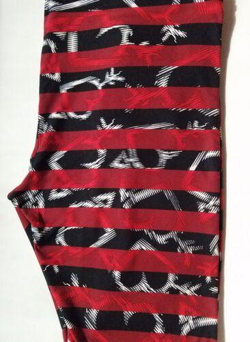 Hearts Lularoe White sul nero Stripes Valentines Tc Blurred Arrow Red Leggings rfUwr5qCxX