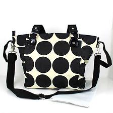 Nappy Diaper Bag Delux Black Dots Design Changing Bag & FREE Changing Mat